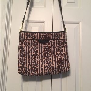 Coach Leopard print Crossbody Messenger bag